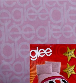 Glee Logo TV Show Pink 3pc Twin Sheets Bedding Set New
