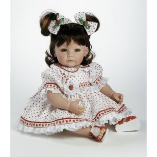 "Adora Dolls Baby Doll ""Strawberry Fields"" Brown Hair / Green Eyes"