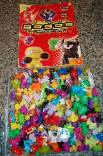 Gogos Crazy Bones Huge Lot Comes with Sticker Book