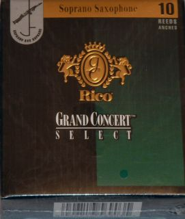 Rico Grand Concert Select Soprano Sax Reeds 5 0 Box 10