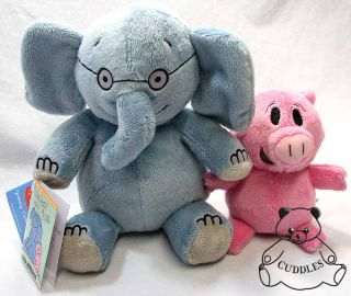 Gerald Elephant & Piggie Yottoy Plush Toy Stuffed Animal Pig Character