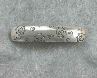 Sterling Silver Far Fetched sun worship Hair Barrette, Discontinued