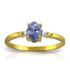 14k Yellow White or Rose Gold Natural Tanzanite Diamond Ring 46ct Made