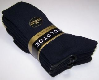 Gold Toe Mens 4 Pair Dress Crew Socks Navy 10 13 New 2726s
