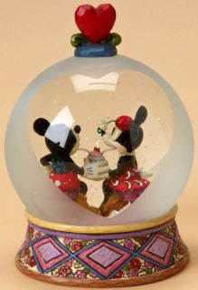 Jim Shore Disney Mickey Minnie Soda Shop Waterball
