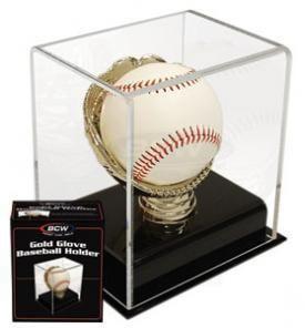 Gold Glove Baseball Display Case Holder UV Safe