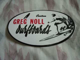 Vintage Greg Noll Surf Surfboard Sticker Decal New Old Stock