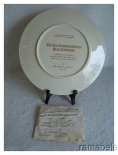 Danbury Mint Ten Commandments Moses Bible 24K Gold Rim