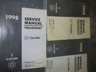 Chevy Corvette Service Shop Repair Manual Set Factory Books GM