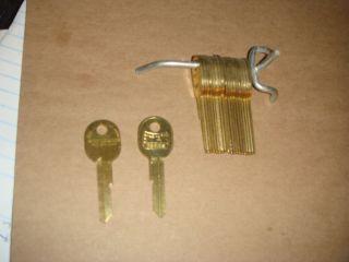 20 Locksmith GM Secondary Key Blank Fits All Letter Keys