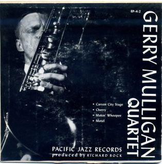 Gerry Mulligan Quartet EP w Chet Baker Pacific Jazz EP 4 2 Cherry 3