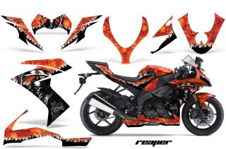 AMR Racing Graphic Kit Decal Bike Wrap Kawasaki ZX10 Ninja 2008 2009