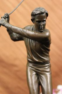 Original Signed Milo Golf Player Bronze Sculpure Saue Figure