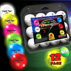 Variety Pack Golf Balls LED Light Up Golf Balls Night Time Golf
