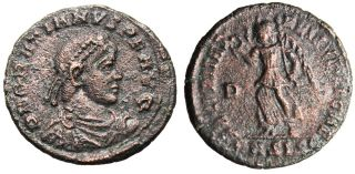 Choice EF Coin of Gratian Victory Angel Siscia Sharp Authentic Roman