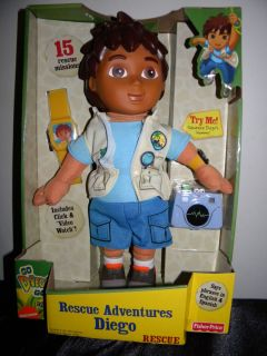 New Fisher Price Go Diego Go Rescue Adventures Doll Toy Video Watch