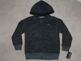 Boys TONY HAWK Black/Gray SWEAT JACKET Hoodie, Size S (4), NWT