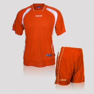Set Goalkeeper Soccer Jersey Shorts Orange Size Adult Medium