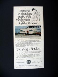 Holiday Rambler Travel Trailer camper 1978 Print Ad