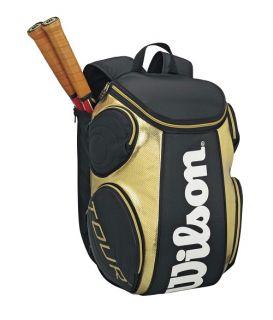 Wilson Tour Back Pack Tennis Racquet Racket Bag Auth Dealer Black Gold