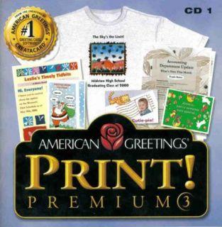 Greetings Print Premium 3 PC CD create crafts greeting cards labels