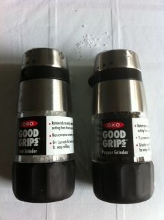 New OXO Good Grips Salt and Pepper Grinder Set