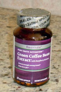 Green Coffee Bean Extract w Raspberry Ketone 60 Veggie Capsules