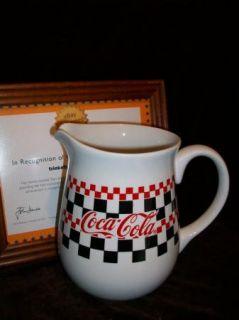 Gibson Coca Cola Coke Kitchen Dinnerware 1996 Large Tea Pitcher