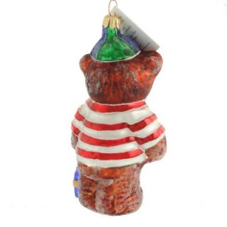 Christopher Radko RARE Cubbys Gift Teddy Bear Baseball Hat Christmas