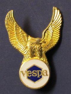 Vespa Eagle Scooter Lapel Pin Hat Badge Ska Mod Gold
