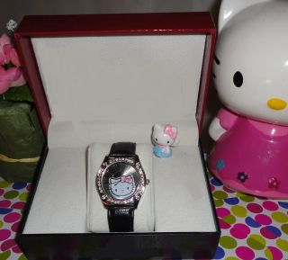 Hello Kitty Fan Collector Watch Black Great Holiday Gift Giving