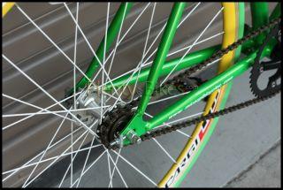 Green Yellow 53cm 700c Micargi RD267 Fixie Single Speed Road Bike