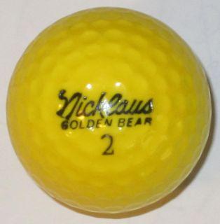 Vintage Signature Nicklaus Golden Bear Logo Golf Ball