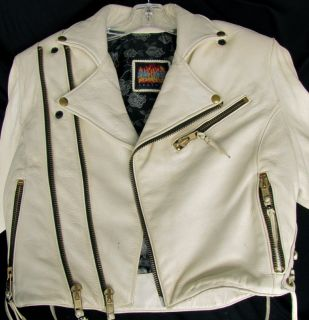 Vintage Bill Wall Leathers Deer Skin Leather Motorcycle Jacket with