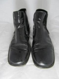 Gordon Rush Mens Ankle Boots Boot Leather Slip on Zipper 45 12 Italian
