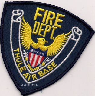 Thule Air Base Greenland Fire Patch