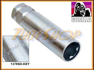 Gorilla M14 14mm 1378SD Key 6 Spline Wheel Lock Lug Nut Replacement