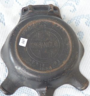 Griswold Quality Ware 00 Erie PA 970 Cast Iron Ashtray Skillet w Match