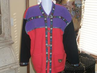 Obermeyer Fleece Fall Ski Sweater Cardigan Small Gorsuch