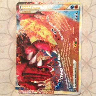 Kyogre Groudon Legend Holo Pokemon Card RARE MINT Holo ex Shiny Gold