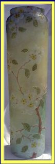 Antique French Legras Cameo Art Glass Blossom Vase 15 1 4inch Tall