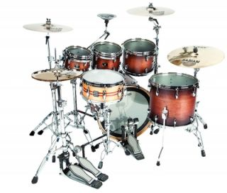 4pc Gretsch Renown Maple Drum Set Satin Walnut Burst Free 8 Tom