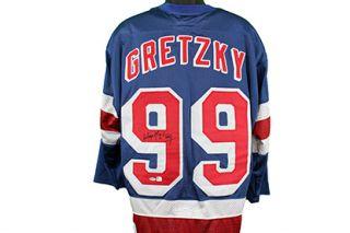 Wayne Gretzky Autographed New York Rangers Hockey Jersey Global GAI