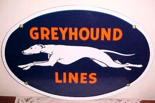 Greyhound Bus Lines Porcelain Sign