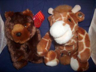 bear and giraffe plush safari nursery plush baby lovey Disney animal