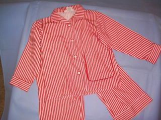 AMERICAN GIRL Molly Girls & Dolls Matching Red & White Stripe Pajamas