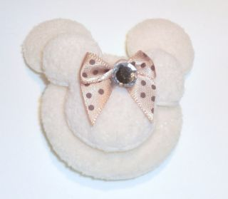 Padded Mickey Minnie Mouse Head Appliques 4 Colors
