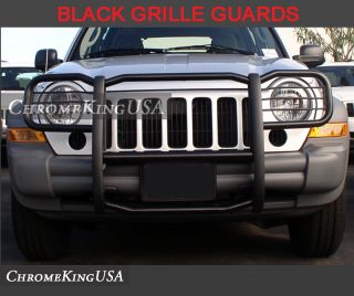Jeep Liberty Black Modular Grille Guard Push Nudge Brush Bars