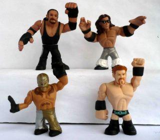 Lot 4 Mattel WWE Rumblers Rey Mysterio John Morrison Sheamus