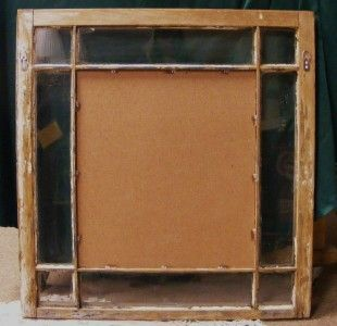 Old wood 6 pane window frame with no glass 27 x 18 perfect for for 18 x 27 window